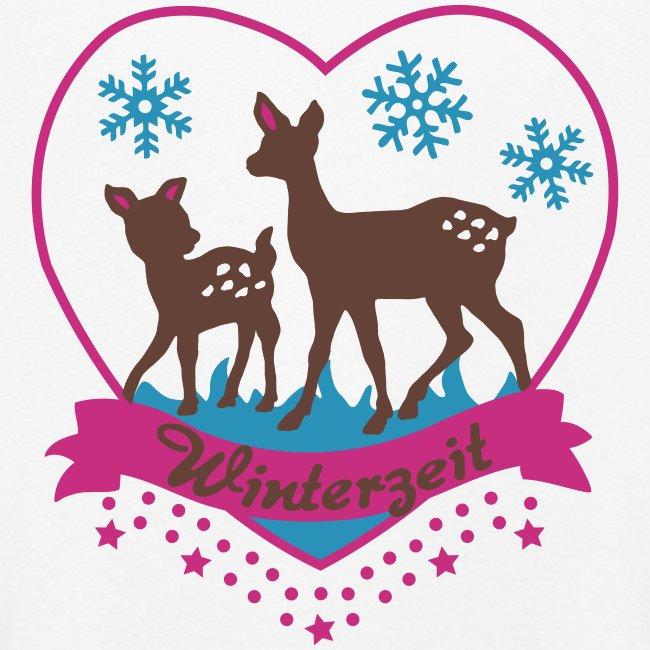 Winterzeit, Rehe, Weihnachten