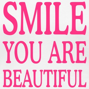 smile you are beautiful T-Shirts - Frauen Premium T-Shirt
