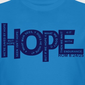 HOPE - Rom 8 24 - 1 Color Vector T-Shirts - Men's Organic T-shirt
