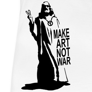 jesus make art not war T-Shirts - Frauen Premium T-Shirt