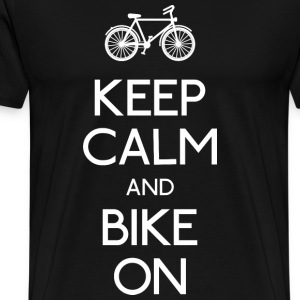 keep calm bike holde ro sykkel T-skjorter - Premium T-skjorte for menn