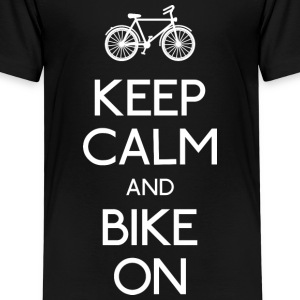 keep calm bike holde ro sykkel Skjorter - Premium T-skjorte for barn