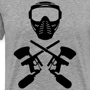Paintball mask and gun T-Shirts - Men's Premium T-Shirt