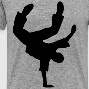 Breakdance dancing Break Dans Dansare musik T-shirts - Premium-T-shirt herr