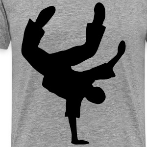Breakdance Dancer Breakdancer Moves Freeze Logo - Männer Premium T-Shirt