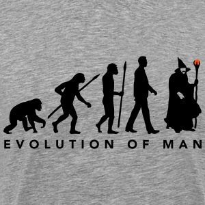 evolution_of_man_wizard_112014_a_2c T-Shirts - Männer Premium T-Shirt