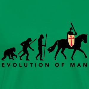 evolution_of_man_knight_112014_a_3c T-Shirts - Männer Premium T-Shirt