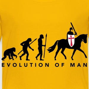 evolution_of_man_knight_112014_a_3c T-Shirts - Kinder Premium T-Shirt