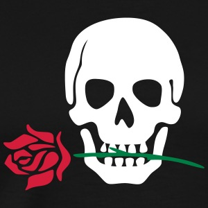 Rose & skull - Men's Premium T-Shirt