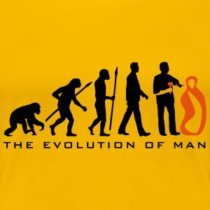 evolution_of_man_sculptor_112014_b_2c T-Shirts - Frauen Premium T-Shirt