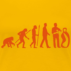 evolution_of_man_sculptor_112014_a_1c T-Shirts - Frauen Premium T-Shirt