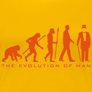 evolution_of_man_gentleman_112014_b_2c T-Shirts - Frauen Premium T-Shirt