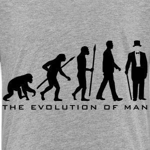 evolution_of_man_gentleman_112014_b_2c T-Shirts - Kinder Premium T-Shirt