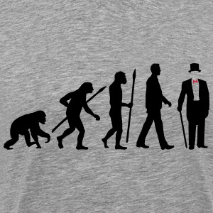 evolution_of_man_gentleman_112014_a_2c T-Shirts - Männer Premium T-Shirt