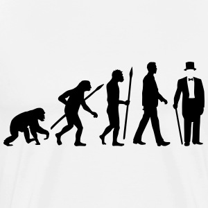 evolution_of_man_gentleman_112014_a_1c T-Shirts - Männer Premium T-Shirt