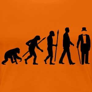 evolution_of_man_gentleman_112014_a_1c T-Shirts - Frauen Premium T-Shirt