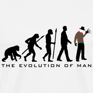evolution_of_man_horror_nightmare_freddy T-Shirts - Männer Premium T-Shirt