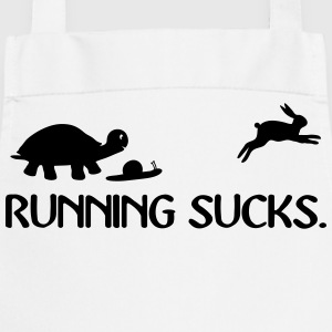 Running Sucks Fitness Runner Clipart Comic funny  Aprons - Cooking Apron