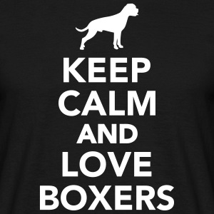 Keep calm and love Boxers T-Shirts - Männer T-Shirt