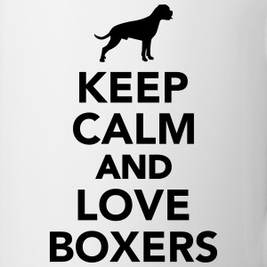 Keep calm and love Boxers Tassen & Zubehör - Tasse