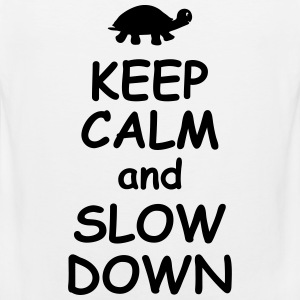 Keep calm and slow down   jogging fitness Maraton  Sportkläder - Premiumtanktopp herr