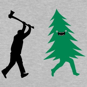 Funny Christmas tree is chased by  Lumberjack Shirts - Baby T-Shirt
