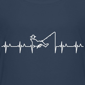 Anglers Herzschlag / heart beats for fishing (1c) T-Shirts - Teenager Premium T-Shirt