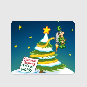 Elf Decorating Xmas Tree Other - Mouse Pad (horizontal)
