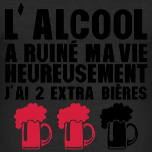 alcool ruine vie 2 extra biere humour 21 Tee shirts - Tee shirt près du corps Homme