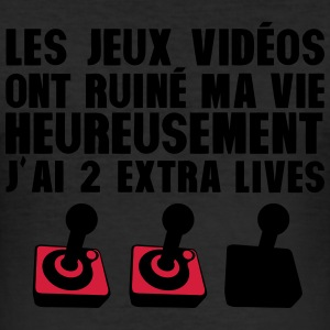 jeux video ruine vie 2 extra ives geek Tee shirts - Tee shirt près du corps Homme