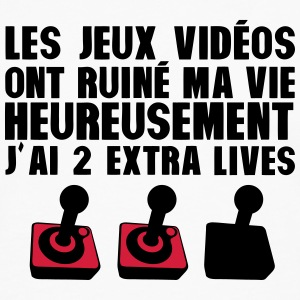 jeux video ruine vie 2 extra ives geek Manches longues - T-shirt manches longues Premium Homme