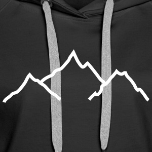 mountains montagnes Sweat-shirts - Sweat-shirt à capuche Premium pour femmes