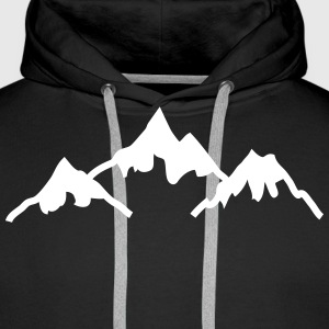 mountains montagnes Sweat-shirts - Sweat-shirt à capuche Premium pour hommes