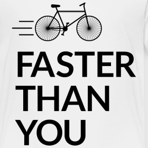 Faster than you snabbare än du T-shirts - Premium-T-shirt barn