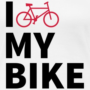 i love my bike Tee shirts - T-shirt Premium Femme