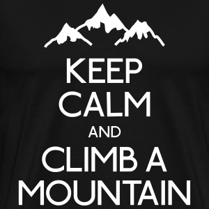 keep calm mountain houden kalm berg T-shirts - Mannen Premium T-shirt