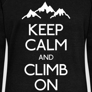 keep calm rock climbing Hoodies & Sweatshirts - Women's Boat Neck Long Sleeve Top