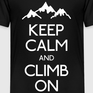 keep calm rock climbing Shirts - Kids' Premium T-Shirt