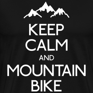 keep calm mountain bike garder calme vtt Tee shirts - T-shirt Premium Homme