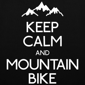 keep calm mountain bike garder calme vtt Sacs et sacs à dos - Tote Bag