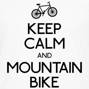 keep calm mountain bike houden kalm mountainbike Shirts met lange mouwen - Mannen Premium shirt met lange mouwen