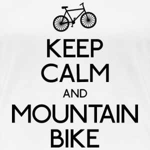 keep calm mountain bike mantener calma btt Camisetas - Camiseta premium mujer