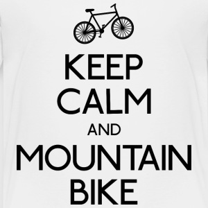 keep calm mountain bike houden kalm mountainbike Shirts - Kinderen Premium T-shirt