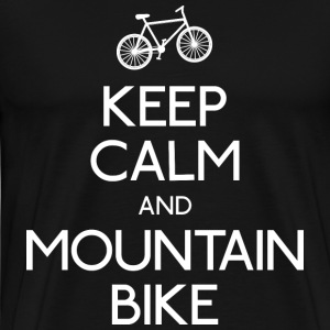 keep calm mountain bike T-Shirts - Men's Premium T-Shirt