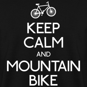 keep calm mountain bike garder calme vtt Sweat-shirts - Sweat-shirt Homme
