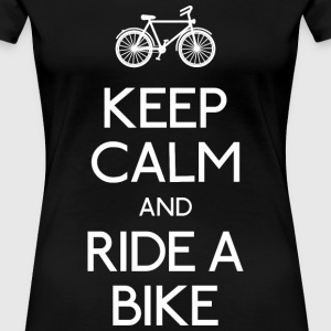 keep calm bike Tee shirts - T-shirt Premium Femme