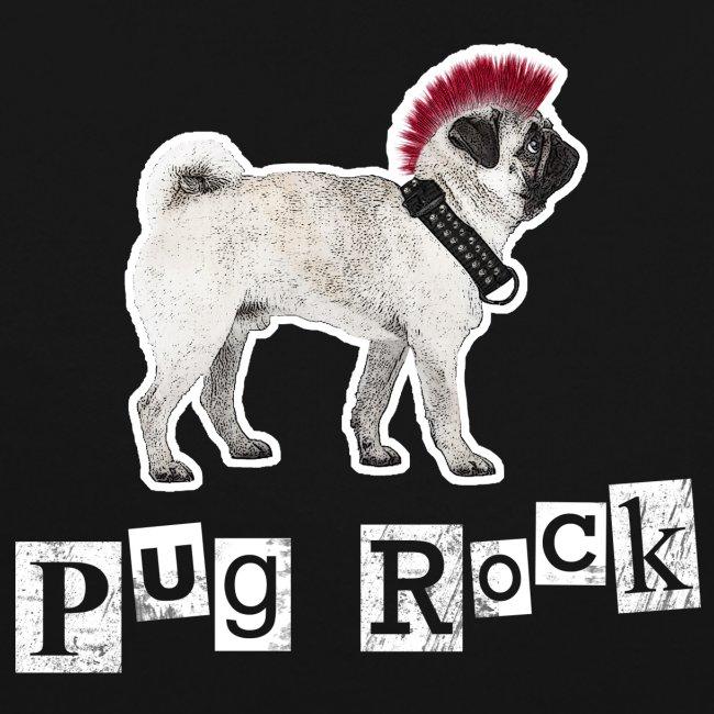 Pug Rock Kontrast-Kapuzenpullover