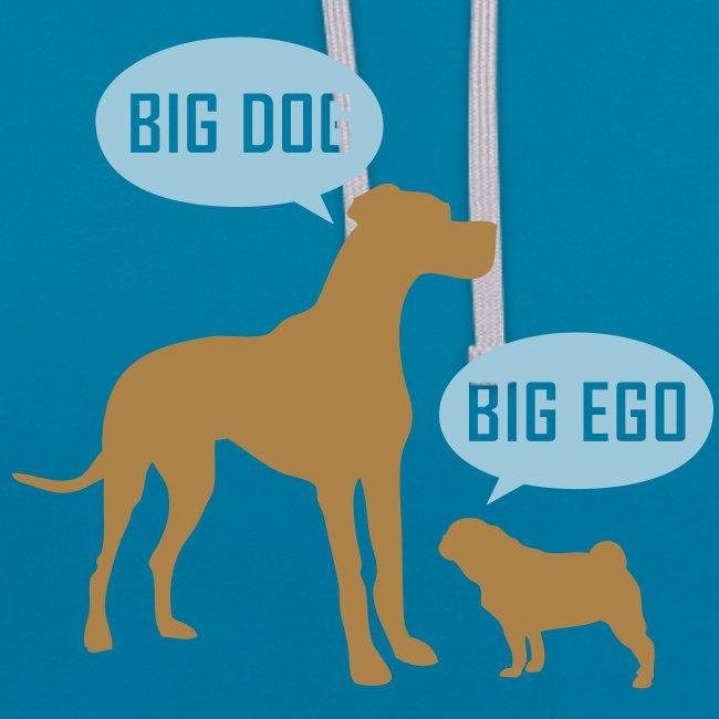 Big Dog Big Ego Kontrast-Kapuzenpullover