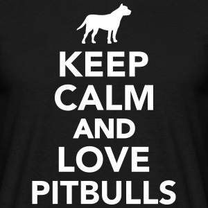 Keep calm and love Pitbulls T-Shirts - Männer T-Shirt