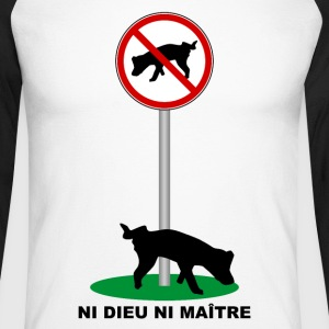 Humour Canin Manches longues - T-shirt baseball manches longues Homme